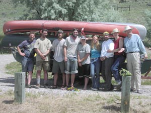 Group canoe float and camping trip on the Jefferson River.