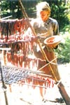 Primitive Meat drying.